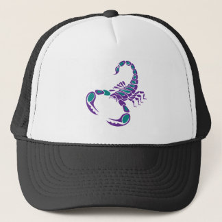 Scorpion Image Purple Teal Blue bug desert Trucker Hat