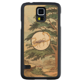 Scorpion In Natural Habitat Illustration Carved Maple Galaxy S5 Slim Case