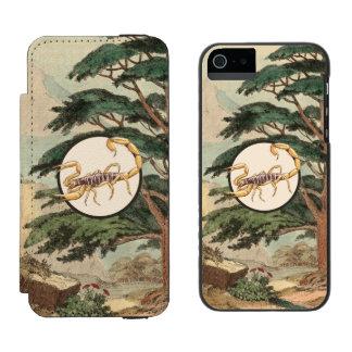 Scorpion In Natural Habitat Illustration Incipio Watson™ iPhone 5 Wallet Case