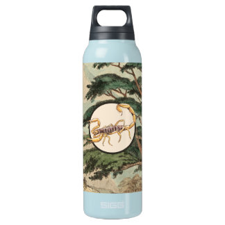 Scorpion In Natural Habitat Illustration Insulated Water Bottle