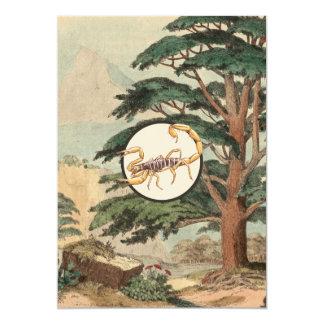 "Scorpion In Natural Habitat Illustration 5"" X 7"" Invitation Card"