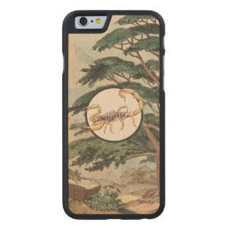 Scorpion In Natural Habitat Illustration Carved® Maple iPhone 6 Slim Case