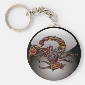 Scorpion Basic Round Button Keychain