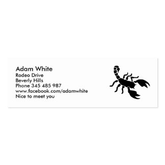 Scorpion Mini Business Card