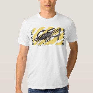 Scorpion on keyboard rock music graphic t-shirt