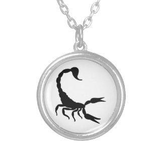 Scorpion Round Pendant Necklace