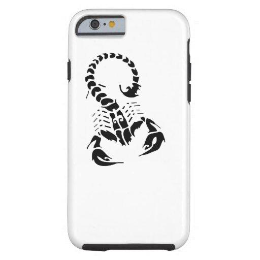 Scorpion Scorpio zodiac horoscope tribal tattoo iPhone 6 Case