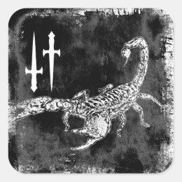 Scorpion Square Sticker