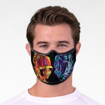 Scorpion & Sub-Zero Polygonal Graphic Premium Face Mask
