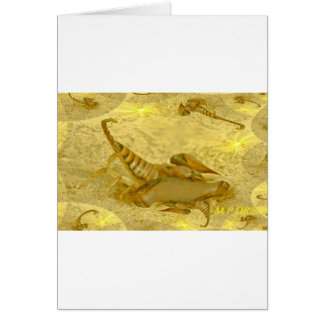 Scorpion Tails Abstract Card