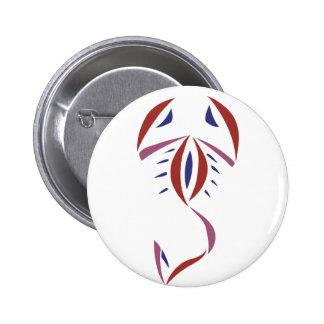 Scorpion Tattoo 2 Inch Round Button
