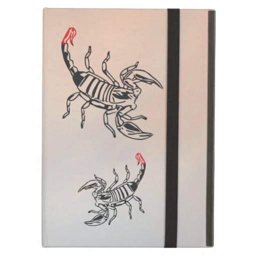 Scorpion with red spine case for iPad air