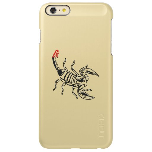 Scorpion with red spine incipio feather shine iPhone 6 plus case