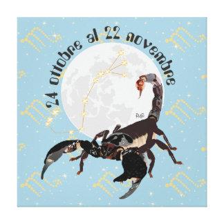 Scorpione 24 al ottobre 22 Stampa novembre su tela Impresión En Lienzo Estirada