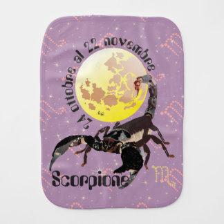 Scorpione 24 ottobre Al 22 Nov. Bavaglino A rutto Baby Burp Cloths