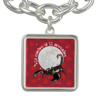 Scorpione 24 ottobre Al 22 Nov. pocket Collana Charm Bracelets