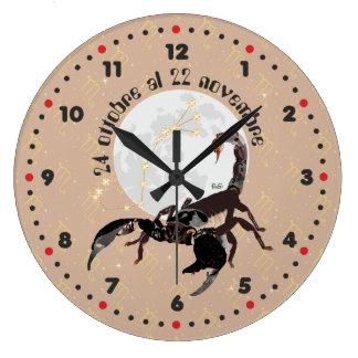 Scorpione 24 ottobre Al 22 novembre Orologio Large Clock
