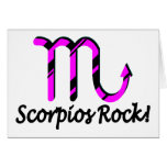 Scorpios Rock Pink and Black Greeting Card