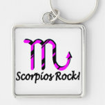 Scorpios Rock Pink and Black Keychains