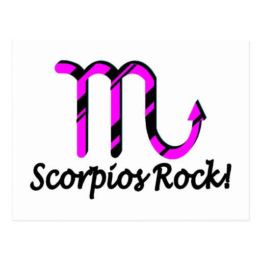 Scorpios Rock Pink and Black Postcard
