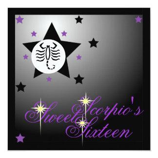 Scorpio's Zodiacal Fortune Sweet Sixteen-Customize Card