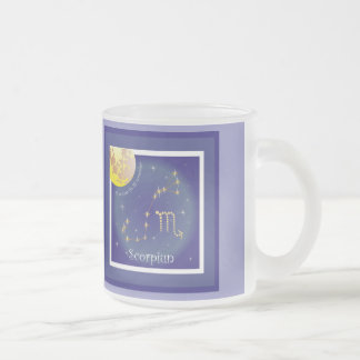 Scorpiun 24 more october fin 22 November cup 10 Oz Frosted Glass Coffee Mug