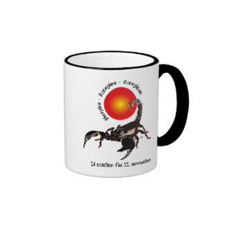Scorpiun 24 more october fin 22 November cup Ringer Coffee Mug