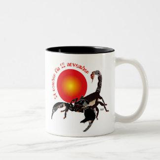Scorpiun 24 more october fin 22 November cup Two-Tone Coffee Mug