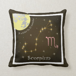 Scorpiun 24 more october fin 22 November cushions