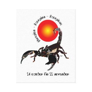 Scorpiun 24 more october fin 22 November wedge can Canvas Print