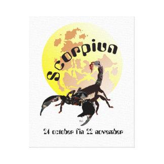 Scorpiun 24 october fin 22 lienzo de cuña November Lona Envuelta Para Galerias