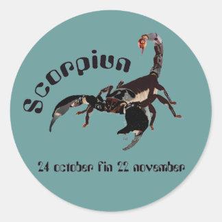 Scorpiun 24 october fin 22 pegatinas November Pegatina Redonda