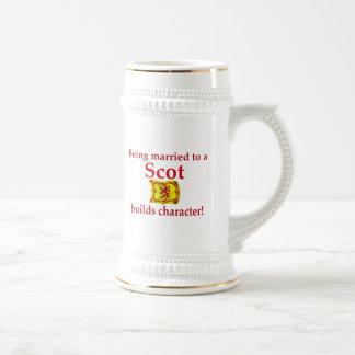 Scot Builds Character Beer Stein