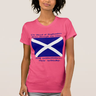 Scot Highlander Blood and Whisky Tee Shirt