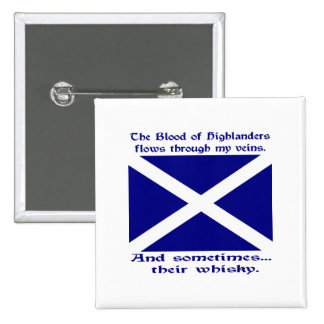 Scot Highlander Blood & Whisky Button