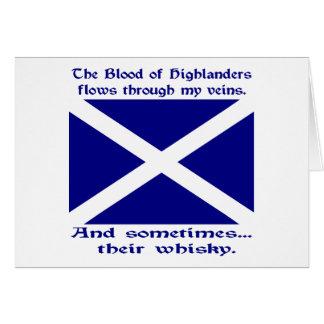 Scot Highlander Blood & Whisky Card