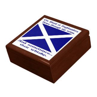 Scot Highlander Blood & Whisky Jewelry Box