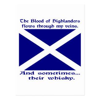 Scot Highlander Blood & Whisky Postcard