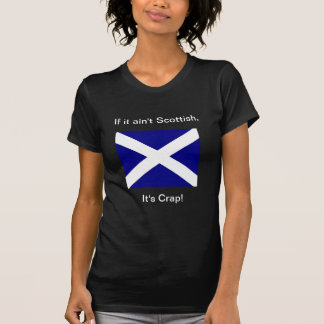 Scot or crap woman's dark T T-Shirt