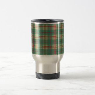 Scot samples green tartan green travel mug