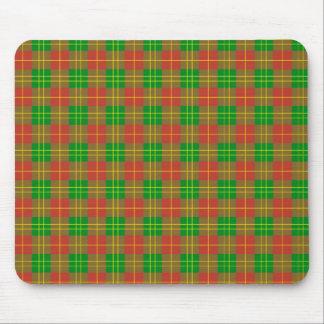 Scot samples red green tartan talk green mouse pad