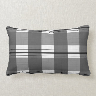 Scot scottish black white gray black grey white lumbar pillow