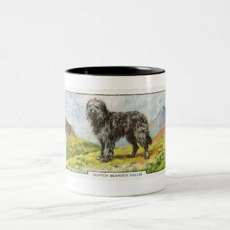 Scotch Bearded Collie Two-Tone Coffee Mug
