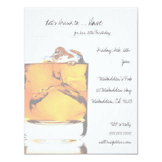 Scotch Birthday Party Invitaitons Card
