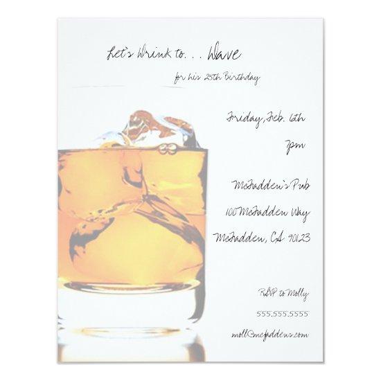 Scotch Birthday Party Invitaitons Invitation