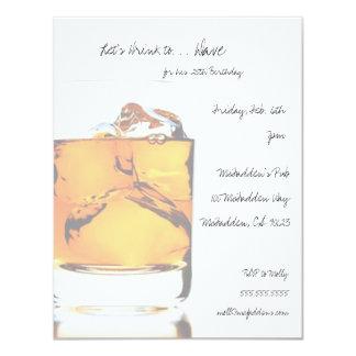 Scotch Birthday Party Invitaitons 4.25x5.5 Paper Invitation Card