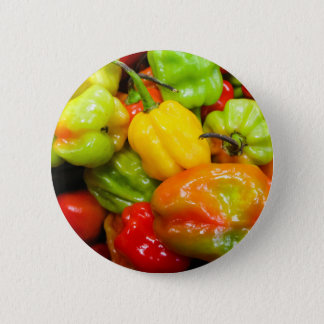 Scotch Bonnet Chilli Peppers Pinback Button