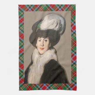 Scotch Bonnet Hat With Bird Art Tea Towel