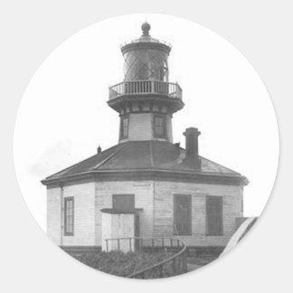 Scotch Cap Lighthouse 2 Classic Round Sticker