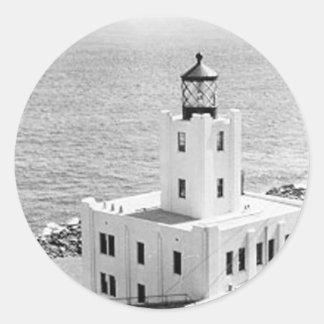 Scotch Cap Lighthouse Classic Round Sticker